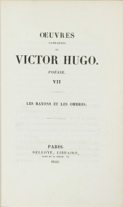 First edition of this sought-after work by Victor Hugo