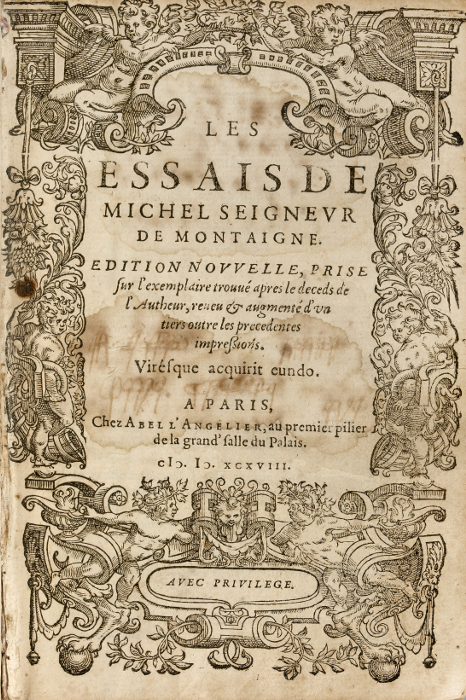 Essays of Michel de Montaigne from Project Gutenberg
