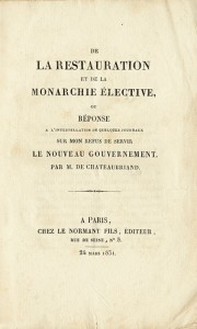 A virulent political pamphlet by Chateaubriand