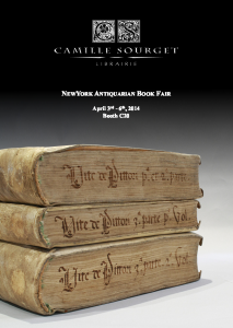 New York Antiquarian Book Fair – Our catalogue