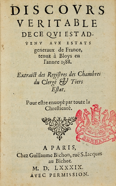 First official version of the Estates General of Blois.