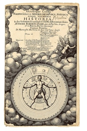 FLUDD-Robert-Utriusque-Cosmi-Maioris-scilicet-et--First-edition-of-this-extremely-