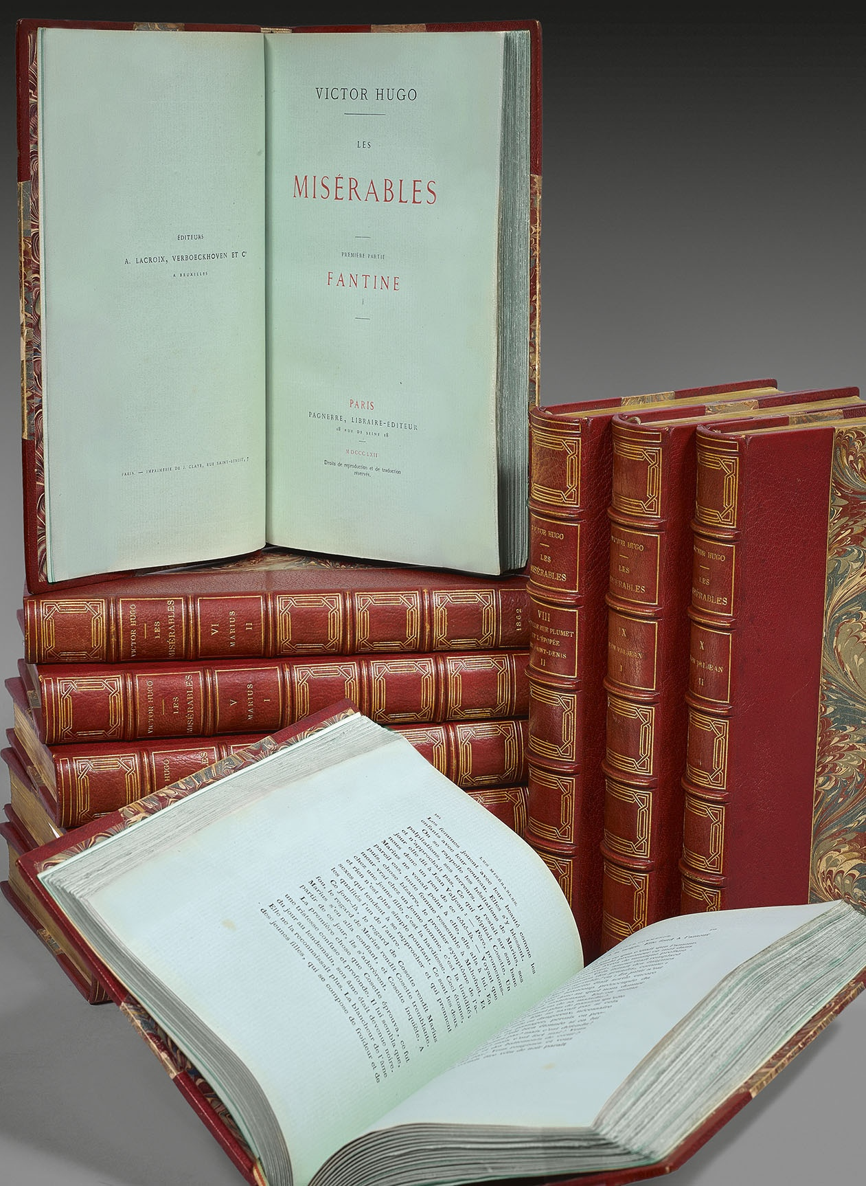 HUGO-Victor-Les-Miserables-rare-books-first-edition-precious-books-