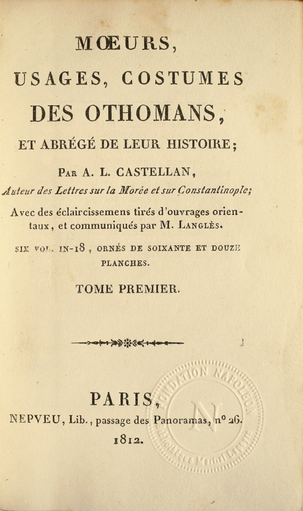rare-books-first-edition-precious-books-CASTELLAN-Moeurs-usages-costumes-des-Othomans-Turkish-culture-through-72-plates-