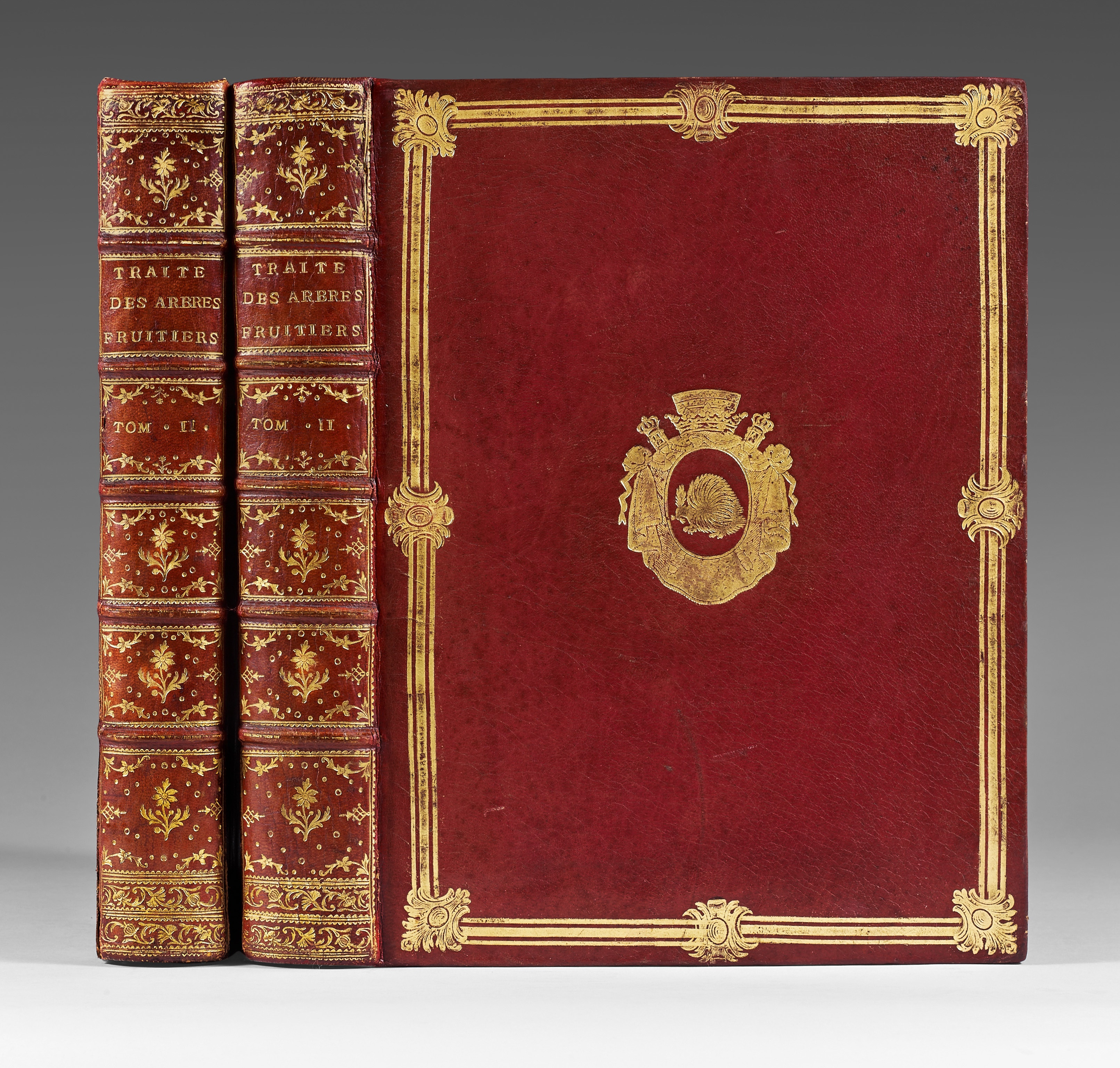 DUHAMEL-DU-MONCEAU-Henri-Louis-Traite-des-arbres-fruitiers--First-edition-of-the-most-