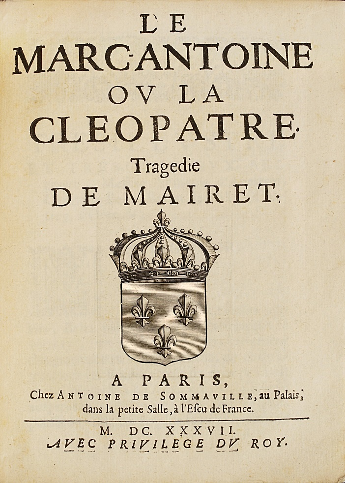 rare-books-first-edition-precious-books-MAIRET-Jean-Le-Marcantoine-ou-la-Cleopatre-First-edition-of-this-tragedy-