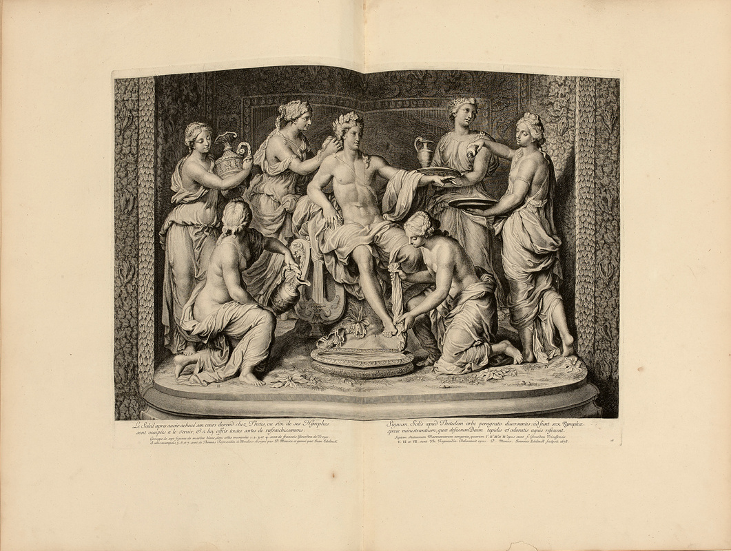 CABINET DU ROI Description de la grotte de Versailles rare books first edition precious books
