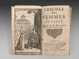 MOLIERE Ecole des femmes rare books first edition precious books
