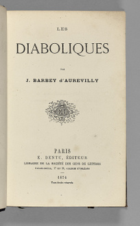 rare books first edition precious books BARBEY D AUREVILLY Les Diaboliques The true first edition co...