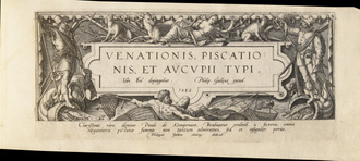 GALLE Philippe  BOL Joannes Venationis piscationis rare books first edition precious books