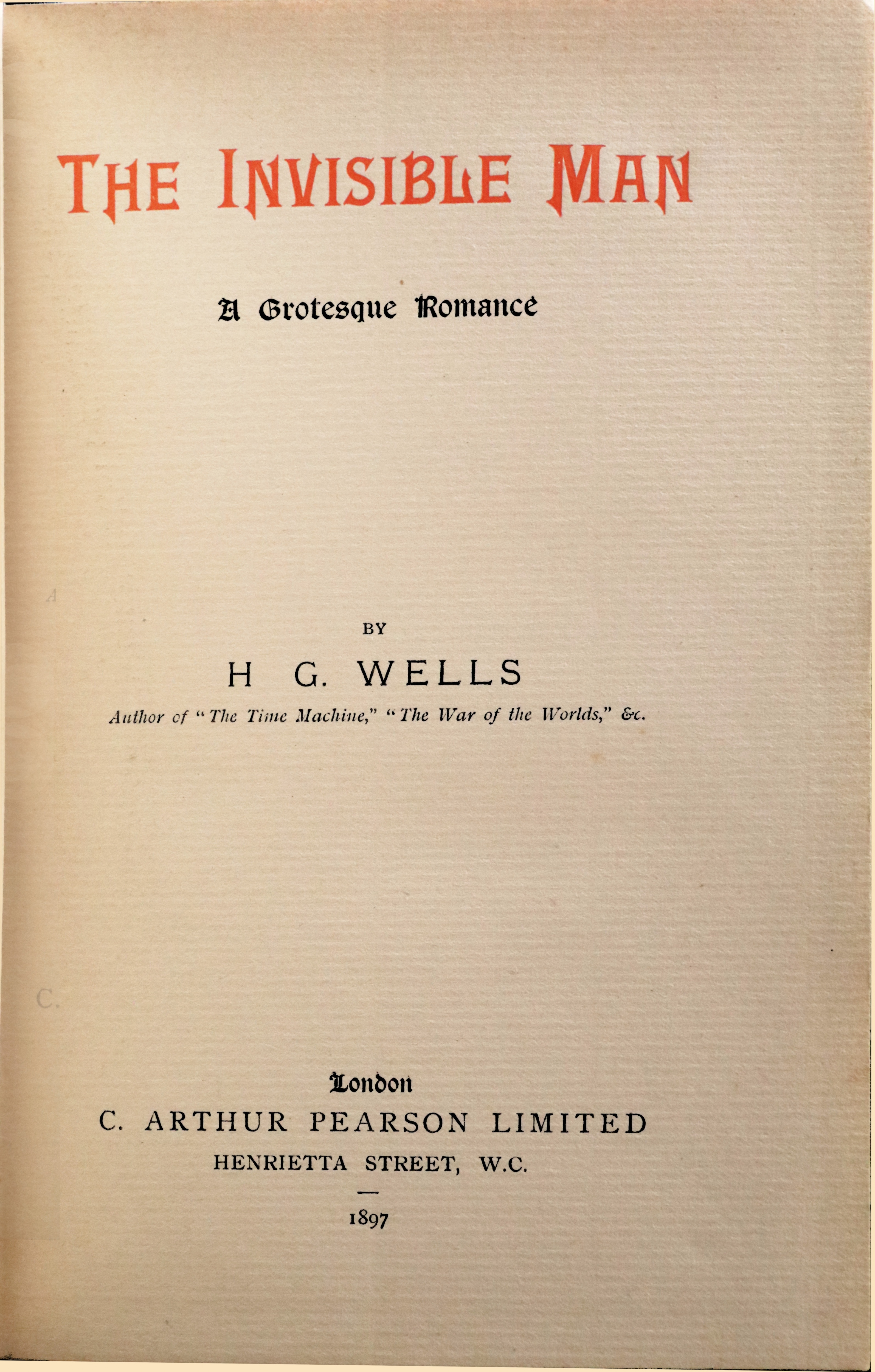 rare-books-first-edition-precious-books-WELLS-Herbert-George-The-Invisible-Man-