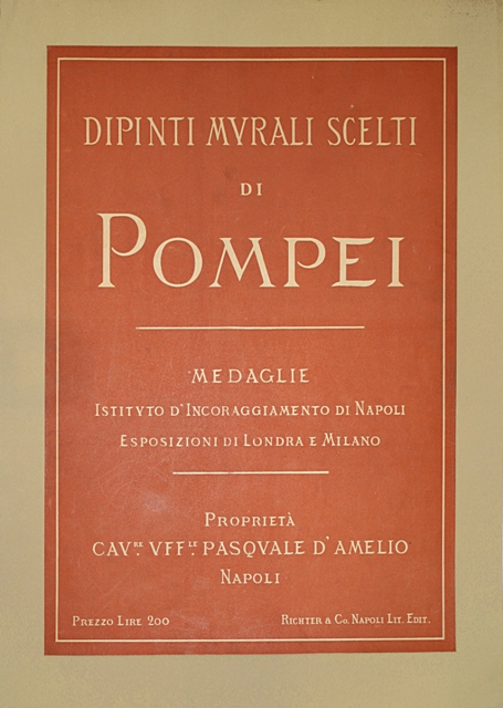 rare-books-first-edition-precious-books-CERILLO-Edoardo-Dipinti-murali-di-Pompei-Medaglie--Pompeian-wall-paintings-depicted-in-