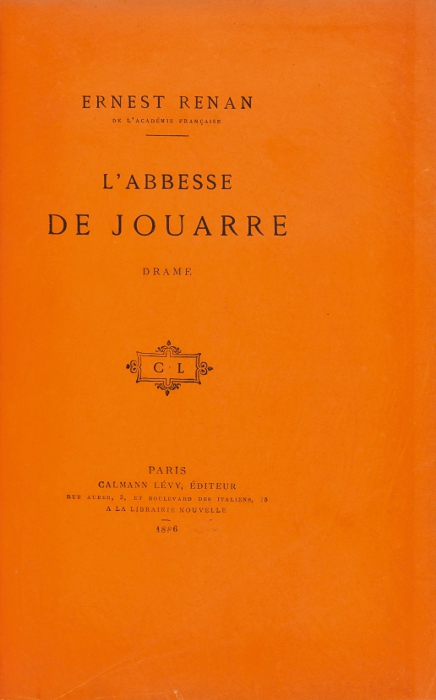 rare books first edition precious books RENAN Ernest L Abbesse de Jouarre  One of only 25 copies