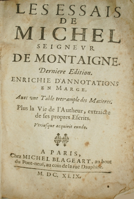 montaignes essay Read this essay on of cannibals, by michael de montaigne come browse our large digital warehouse of free sample essays get the knowledge you need in order to pass your classes and more.