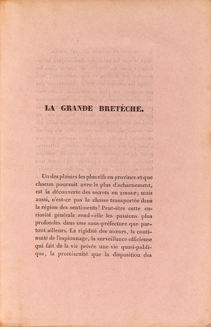 BALZAC Honore de La grande Breteche ou les  First edition of The Old rare books first edition precio...