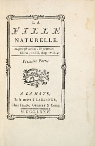 RESTIF-DE-LA-BRETONNE-La-Fille-naturelle--Rare-counterfeit-of-one-of-