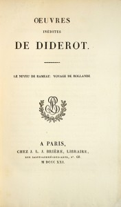 DIDEROT Denis OEuvres inedites de Diderot Le  Real first French edition of