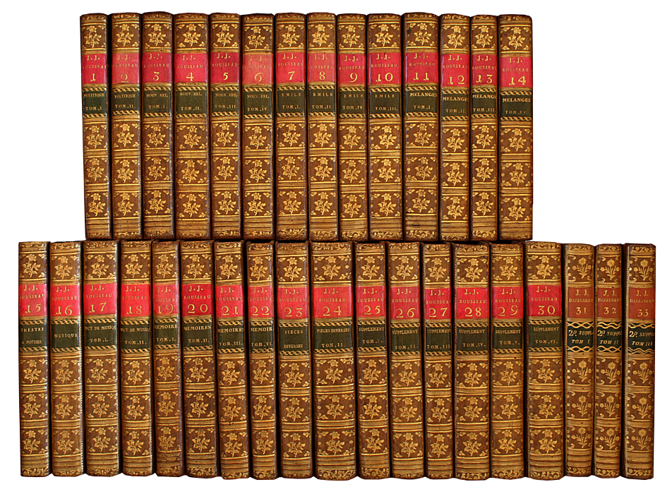 ROUSSEAU Jean Jacques Collection complete des oeuvres de  First collective edition of the