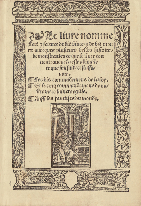 ARS MORIENDI Le Livre nomme  The Art of Dying catalogued